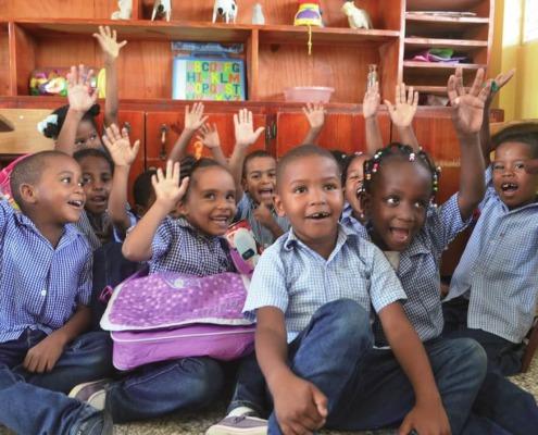 Alumnos de preescolar en República Dominicana