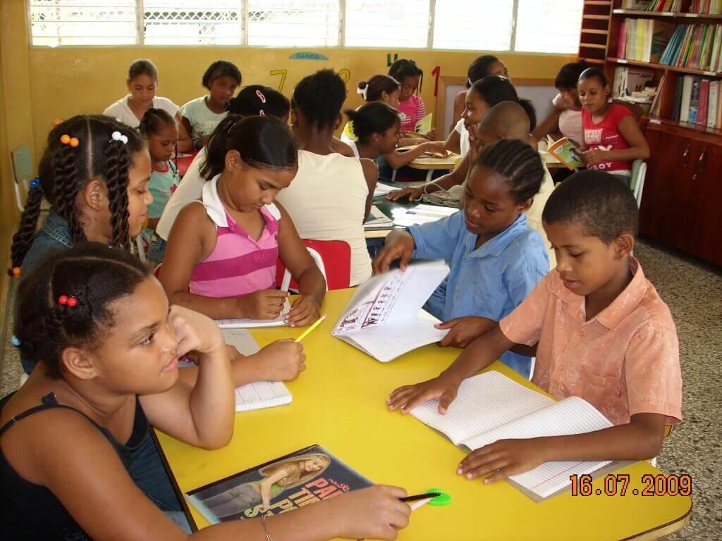Aula de apoyo educativo en República Dominicana